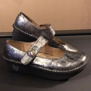 Alegria silver casual shoes
